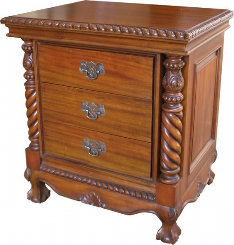 Three Drawer Bedside Cabinet